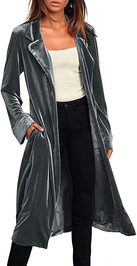 KIRJAUDU Women's Trench Coat with Belt