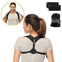 Neiup Back Posture Corrector for Women & Men - Adjustable Posture Correct Brace for Slouching & Hunching - Discreet Design - Detachable Comfortable Armpit Pads, Thoracic Kyphosis, Injury Rehab