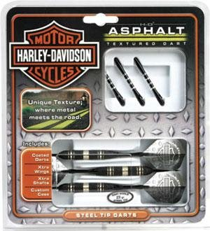 Set of 3 Harley Davidson Asphalt Steel Tip 23 Gram Darts