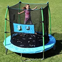 Skywalker Trampolines 7.5' Round Trampoline w/ Enclosure & Double Toss Game