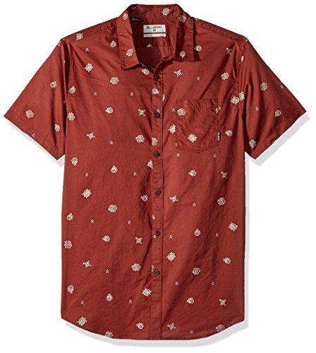 Billabong Men's Sunday Mini Short Sleeve Shirt, Rum, ()
