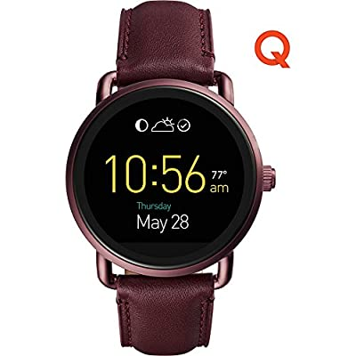 Fossil Q Wander Touchscreen Leather Smartwatch