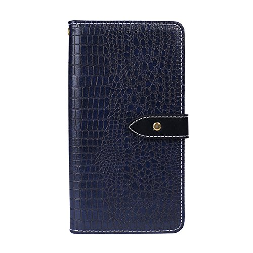 for Oppo Reno Case, Slim Wallet Case Heavy Duty Shockproof Protective Cover with Card Slots Magnetic Flip Case for Oppo Reno Dark Blue