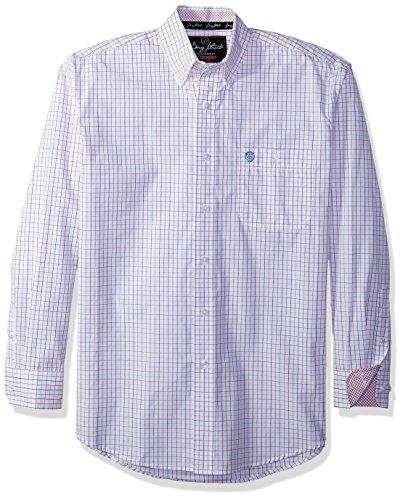 Wrangler Men's Shirt (Red/Blue) - 1