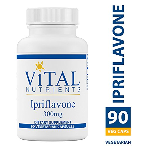Vital Nutrients - Ipriflavone 300 mg - Isoflavone Support for Healthy Bones - 90 Capsules