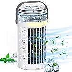 Condizionatore-Daria-Portatile-Manwe-Condizionatori-Ventilatore-Ventola-di-Raffreddamento-Mini-Raffreddatore-Daria-3-Velocita-Purificatore-Daria-Air-Cooler-con-7-LED-Colori-per-CasaUfficio