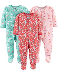 Baby and Toddler Girls' 3-Pack Loose Fit Polyester Jersey...