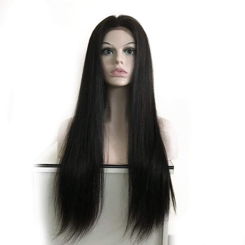 928f8045d4e Forawme 13X6 Deep Space Lace Short Straight Remy Human Hair Wigs Brazilian  Virgin Lace Front...