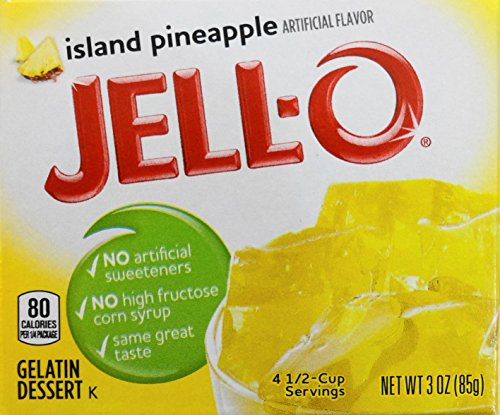 Jell-O Gelatin Dessert, Island Pineapple, 3-Ounce Box (Pack of - Jello Gelatin