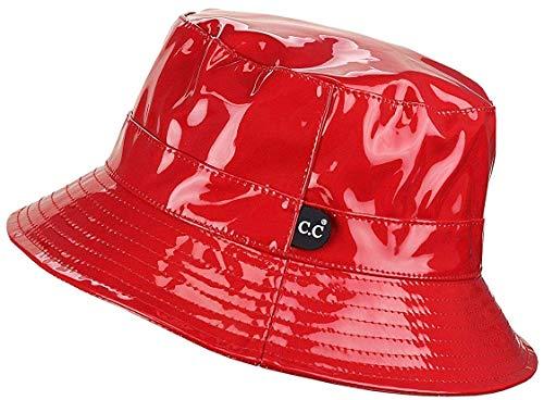 H-219-WP42 Waterproof Rain Bucket Hat Boonie Cap: Red