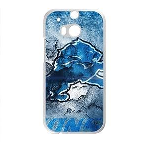 detroit lions Phone Case for HTC M8 Black