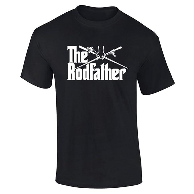 a934867fa Mens The Rodfather Parody Fishing Funny Slogan T-Shirt: Amazon.co.uk:  Clothing