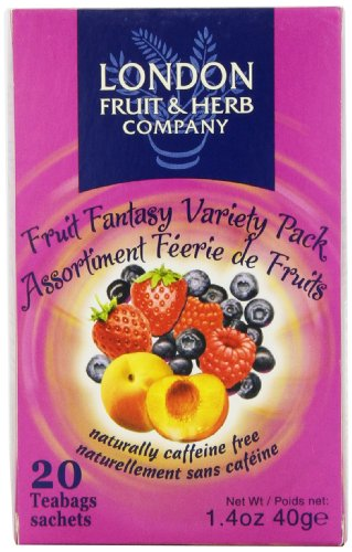 Herbal Fruit - London Fruit & Herb Company Tea, Fruit Fantasy Variety Pack, 20 Count