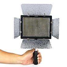 Yongnuo YN-300 LED Illumination Dimming Video Light Lamp SLR Camera DV Camcorder for Canon Nikon + Remote Control