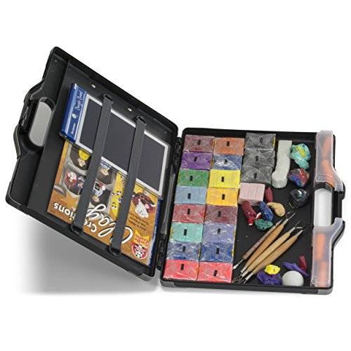 Officemate OIC Carry All Clipboard Storage Box, Letter/Legal Size, Black and Gray (83324) Photo #2