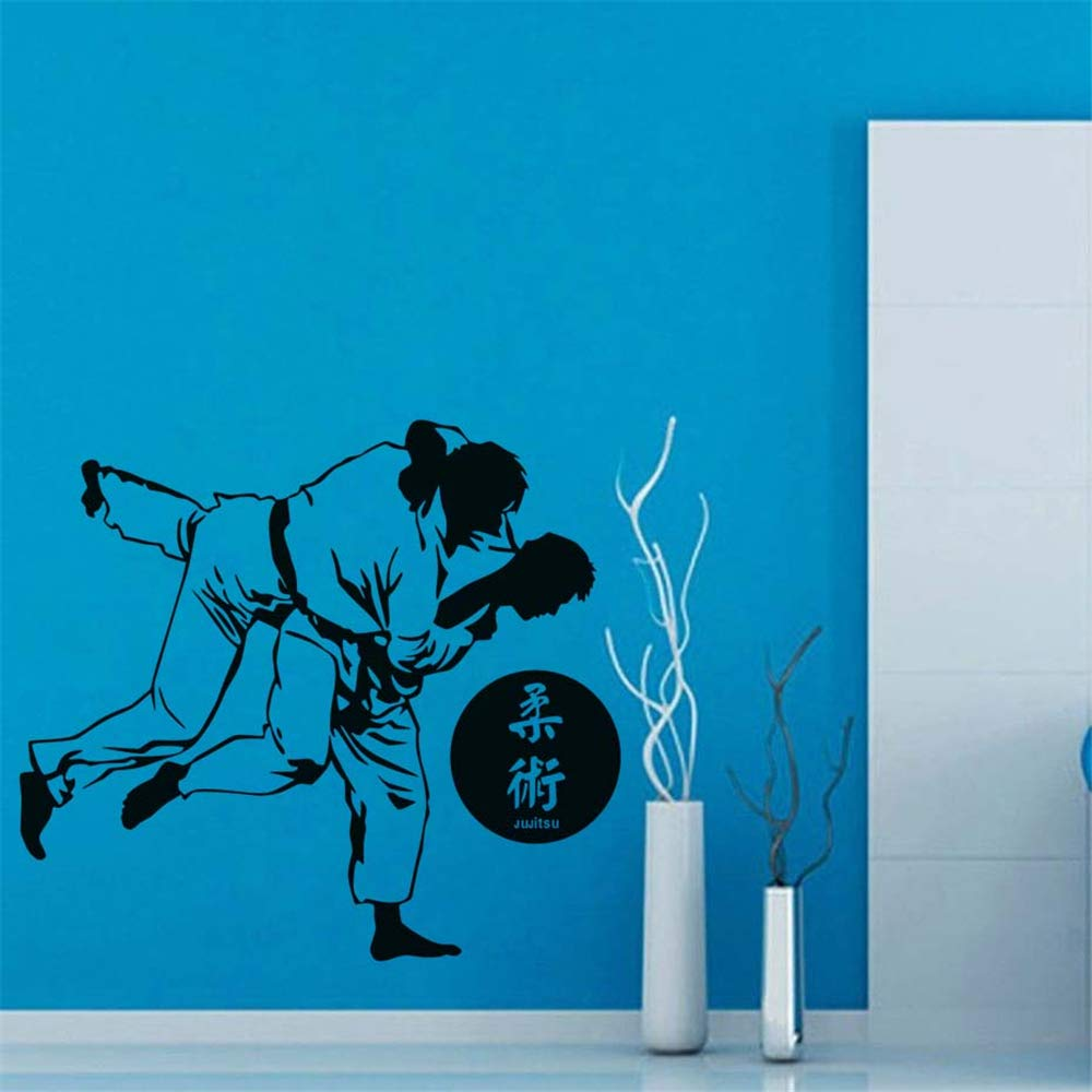 Decals Wall Stickers Sayings Lettering Room Home Wall Decor Mural Art Japanese Karate Home Decor Gym Stickers House Decals for Bedroom by Sincue