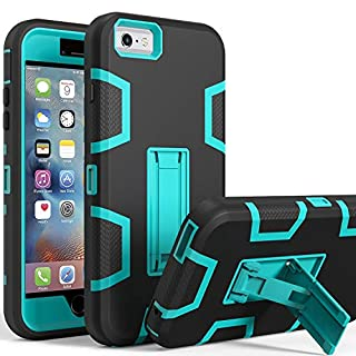 LUCKYCAT iPhone 6s Case, iPhone 6 Case, Kickstand Case for iPhone 6s, Anti-Scratch Anti-Fingerprint Heavy Duty Protection Shockproof Rugged Cover for 4.7inch iPhone 6s, Blue
