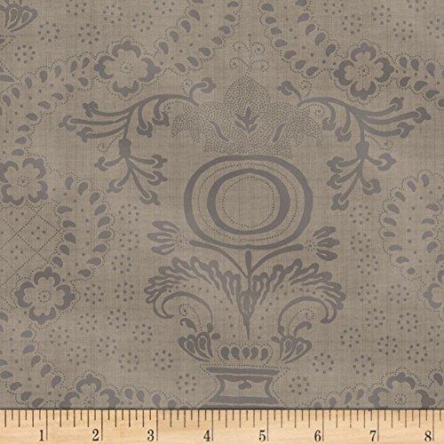 Windham Fabrics Farmhouse Living Urn Medallion Grey Fabric by The Yard,