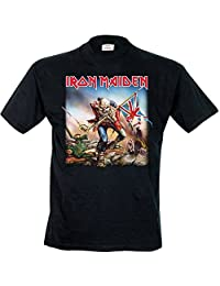 Iron Maiden T Shirt Trooper Album Cover Band Logo Official Mens New Black
