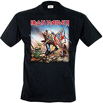 fa59bf878 Amazon.com  AWDIP Men s Official Iron Maiden The Trooper T-Shirt ...