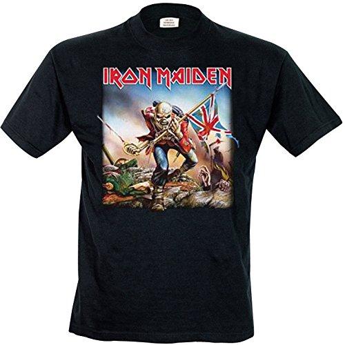 440de95ff Iron Maiden Men s IMTEE03MB Trooper Short Sleeve T-Shirt  Amazon.co ...