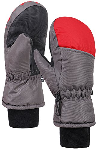 Andorra Girls Color Block Waterproof Thinsulate Lined Ski Gloves,L,Black/Red