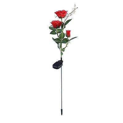 Ledmomo Lampe Solaire Fleur Led En Forme De Rose Lumiere Led Roses