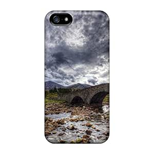 Premium Ancient Stone Bridge On A Stone River Hdr Heavy-duty Protection Case For Iphone 5/5s