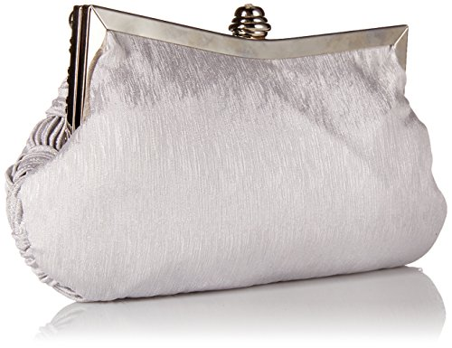 Grey Wedding Pleated Evening Bridesmaid Cocktail Clutch Jeweled Party Bridal Afibi Womens Handbag 6SHqw6P