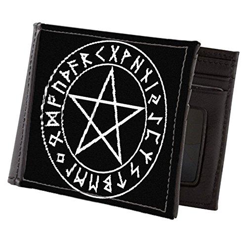 Wallet Pentagram (CafePress - Rune Shield Pentacle - Mens Wallet, Bi-fold Wallet, Billfold Money Holder)