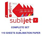 Sawgrass SUBLIJET-R sublimation ink cartridges for Ricoh SG 3110DN & 7100DN printers - COMPLETE SET (CMYK). WITH 110 SHEETS OF OUR SUBLIMATION PAPER ''MADE IN JAPAN'' (Eventprinters brand)