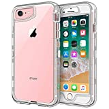 iPhone 8 Case, iPhone 7 Case, Anuck 3 in 1 Heavy Duty Defender Shockproof Full-Body Clear Protective Case Hard Plastic Shell & Soft TPU Bumper Cover for Apple iPhone 8 & iPhone 7 4.7' - Crystal Clear