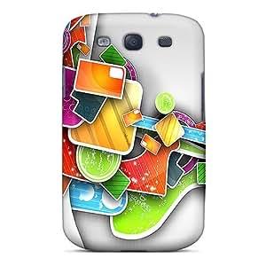 XiFu*MeiGalaxy S3 Case Bumper Tpu Skin Cover For Abstract03 AccessoriesXiFu*Mei