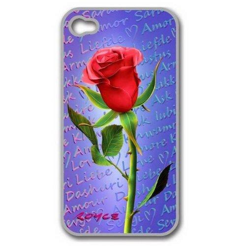 3d custodia protettiva Per iPhone 4/4S Rose con pellicola protettiva