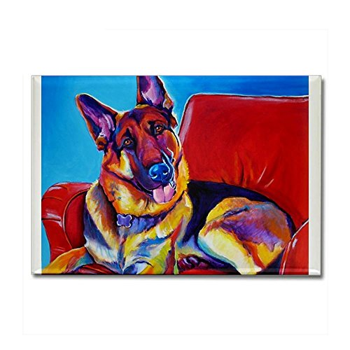 CafePress - German Shepherd #5 Rectangle Magnet - Rectangle Magnet, 2