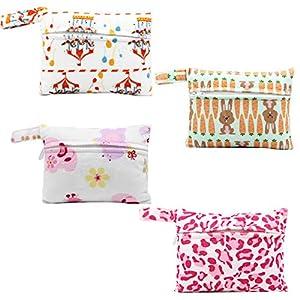 Asenappy Charcoal Bamboo Cloth Menstrual Pads 6 PCS Mama Reusable Sanitary Pads Panty Liners