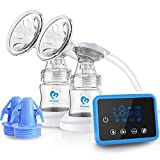 Bellababy Double Electric Breast Feeding Pumps Closed System Pain Free Strong Suction Power Touch Panel High Definition Display