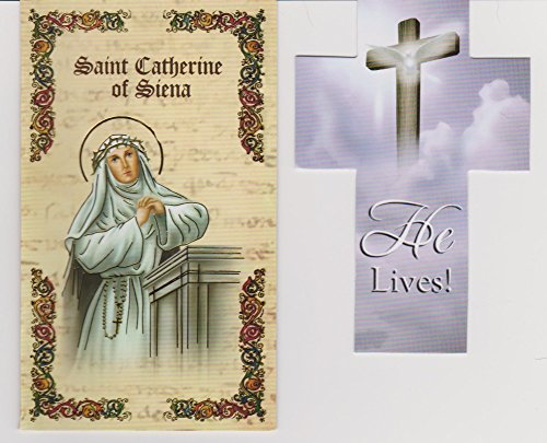 Saint Catherine of Siena Prayer Folder with Cross Bookmark Patron of Nurses (Folder Prayer)
