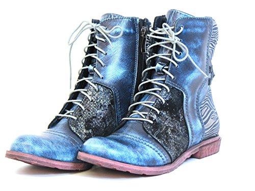 blau blue blau Women Ankle BLAU kombi kombi Boots 9767 wxq0qzC