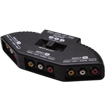 amazon com caxico 3 way audio video rca switch selector rh amazon com