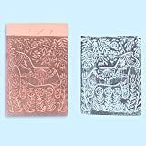 "SGHUO 8 Pcs 4""x6"" Pink Rubber Carving Blocks for"