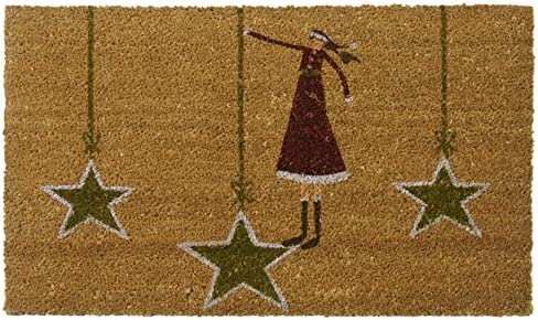 Rubber-Cal Contemporary Holiday Door Mats Modern Doormat, 18 by 30-Inch