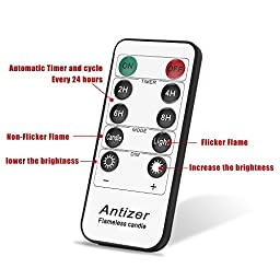 Antizer Flameless Candles 4\