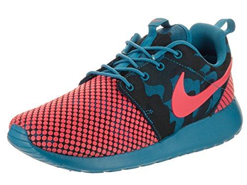 Nike Men's Roshe One Prem Plus Running Shoes, Black, 7.5 UK Multicolour - Azul / Naranja / Black (Brgd Bl / Brght Crmsn-sqdrn Bl-o)