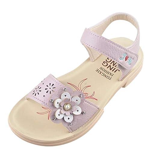 2f69d093b53af Amazon.com: Sandals for Girls,Summer Infant Baby Girls Flower Pearl ...