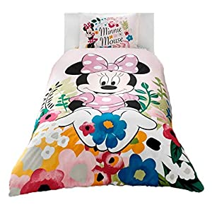 wellstil Minnie Mouse Glitter%100 Cotton Girl's Kid's Duvet/Quilt Cover Set Single/Twin Size Kids Bedding