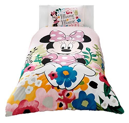 wellstil Minnie Mouse Glitter%100 Cotton Girl's Kid's Duvet/Quilt Cover Set Single/Twin Size Kids Bedding (Cover Sets Duvet Canada)