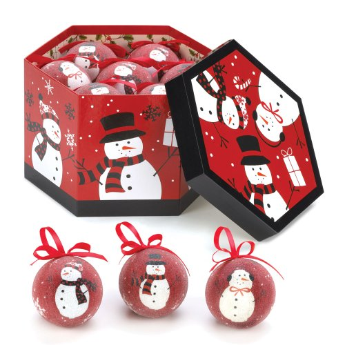 Black & Red Snowman Ornaments by Koolekoo