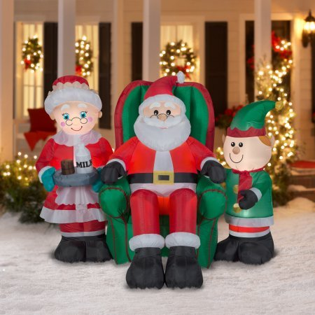 Airblown Inflatable-North Pole Santa and Friends Scene-LG by Gemmy Industries by Gemmy