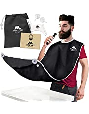 Best Beard Bib for Shaving - The Smart Way to Shave - Beard Trimming Apron 122x81cm - Perfect Grooming Gift or Mens Birthday Gift - Includes Free Shaping Comb, Bag, and Grooming E-book by Mobi Lock